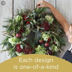 Luxury Christmas wreath made with the finest flowers
